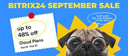 Bitrix24 September Sale