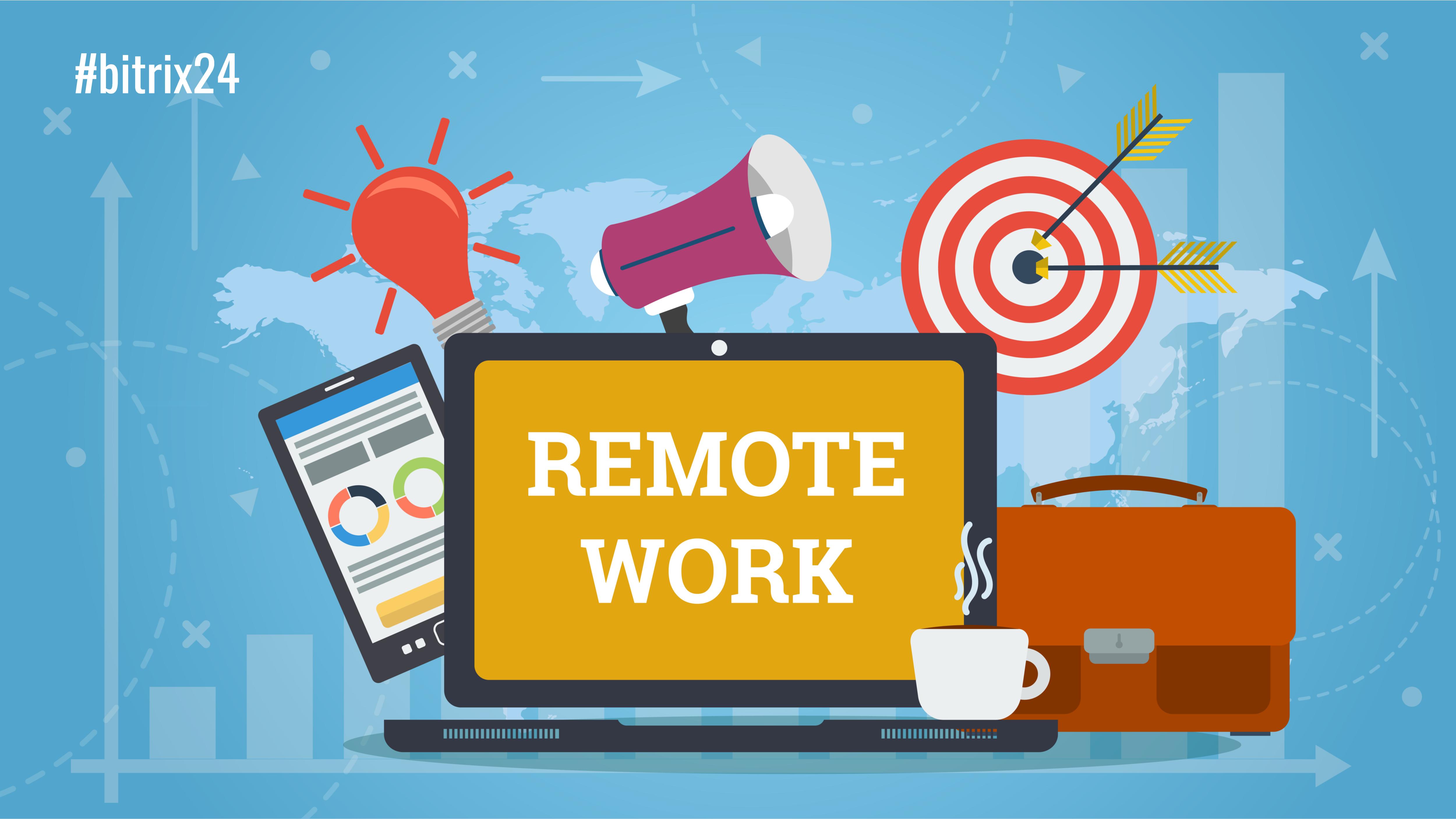 10 passos para organizar trabalho remoto no Bitrix24
