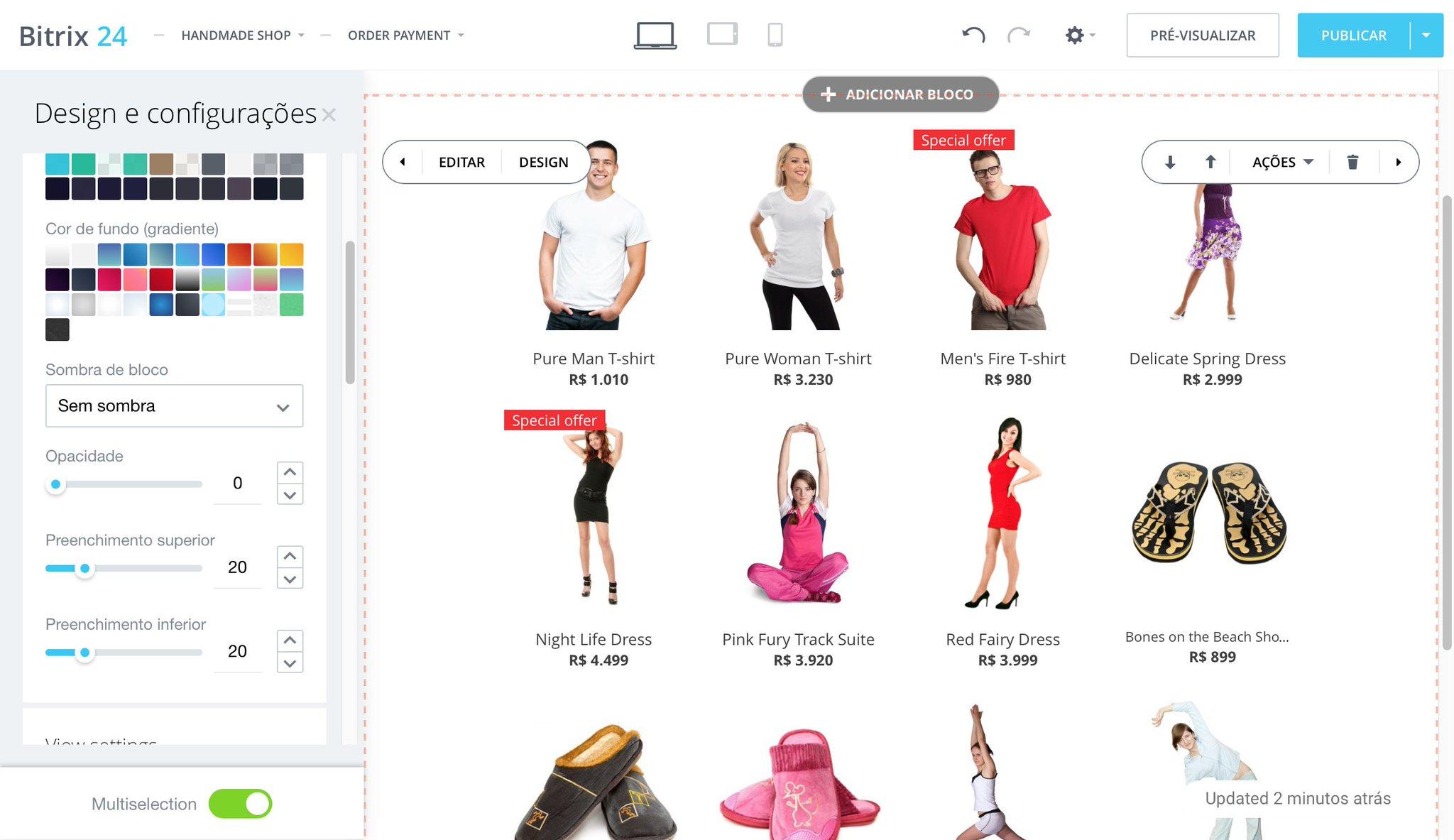 Lojas on-line no Bitrix24 (Versão Beta)