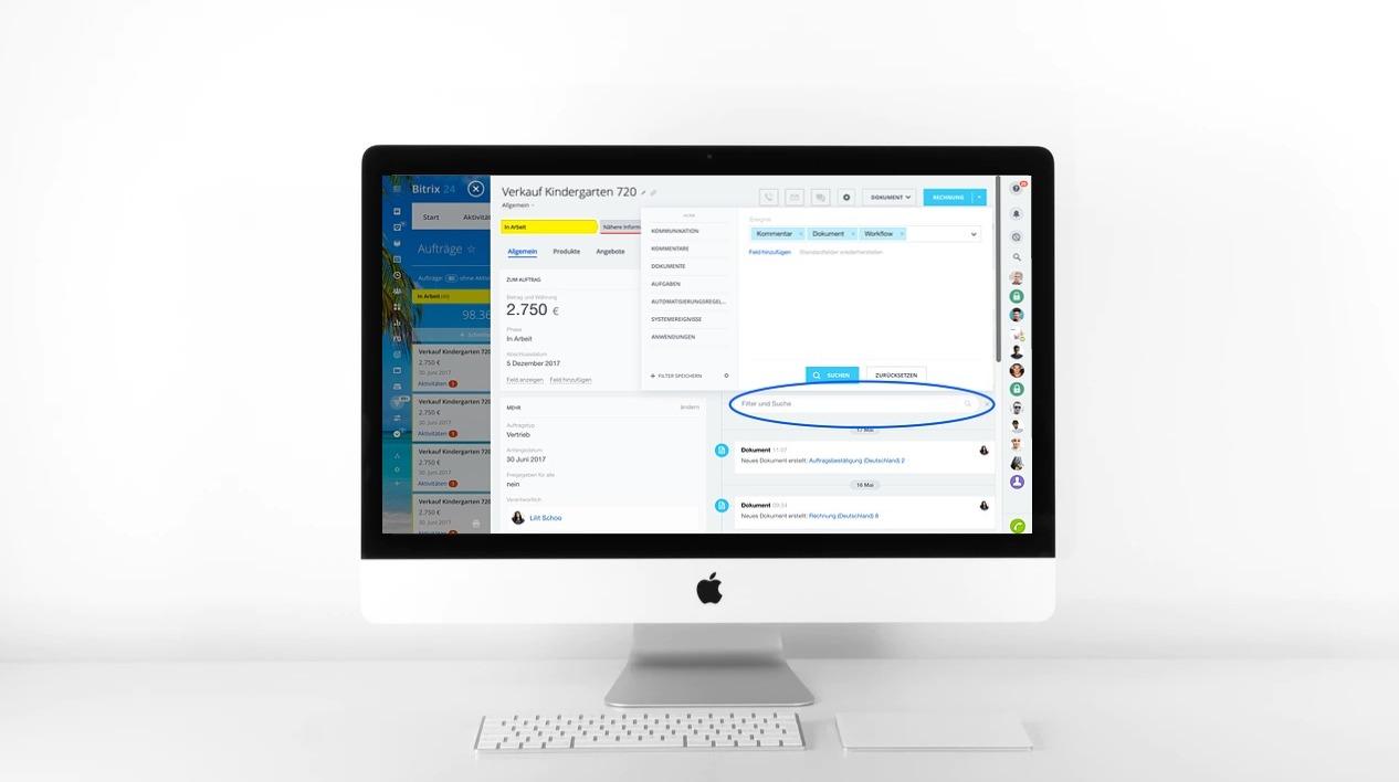 NEU: Filter und Suche in CRM-Elementen