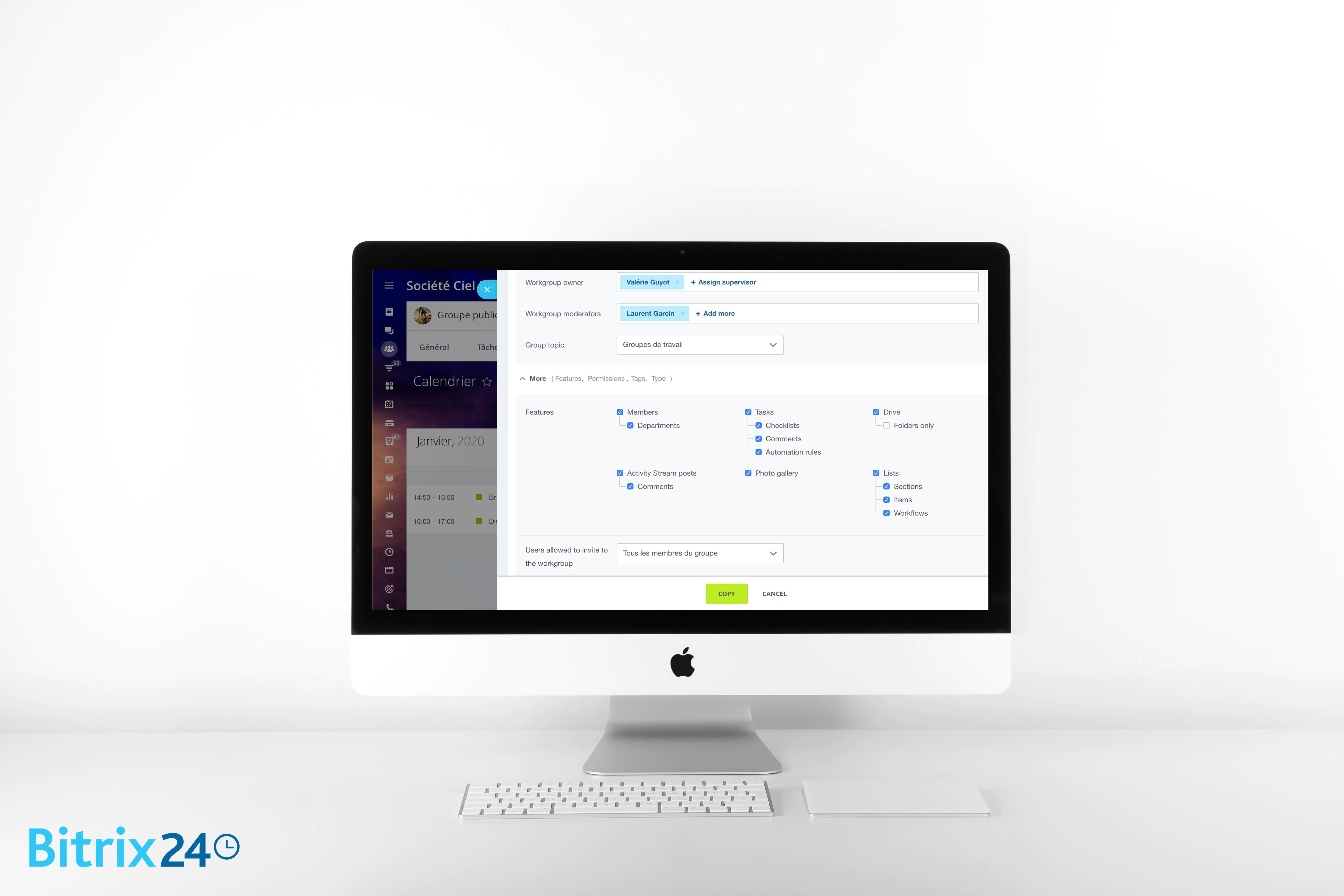 NOUVEAU - Copier les projets et les groupes