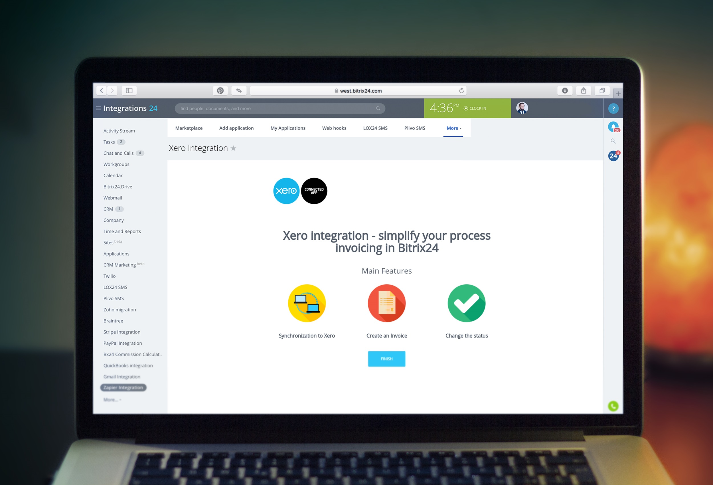 Free Xero integration for Bitrix24 is out