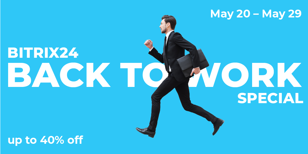 Bitrix24 Back To Work Sale