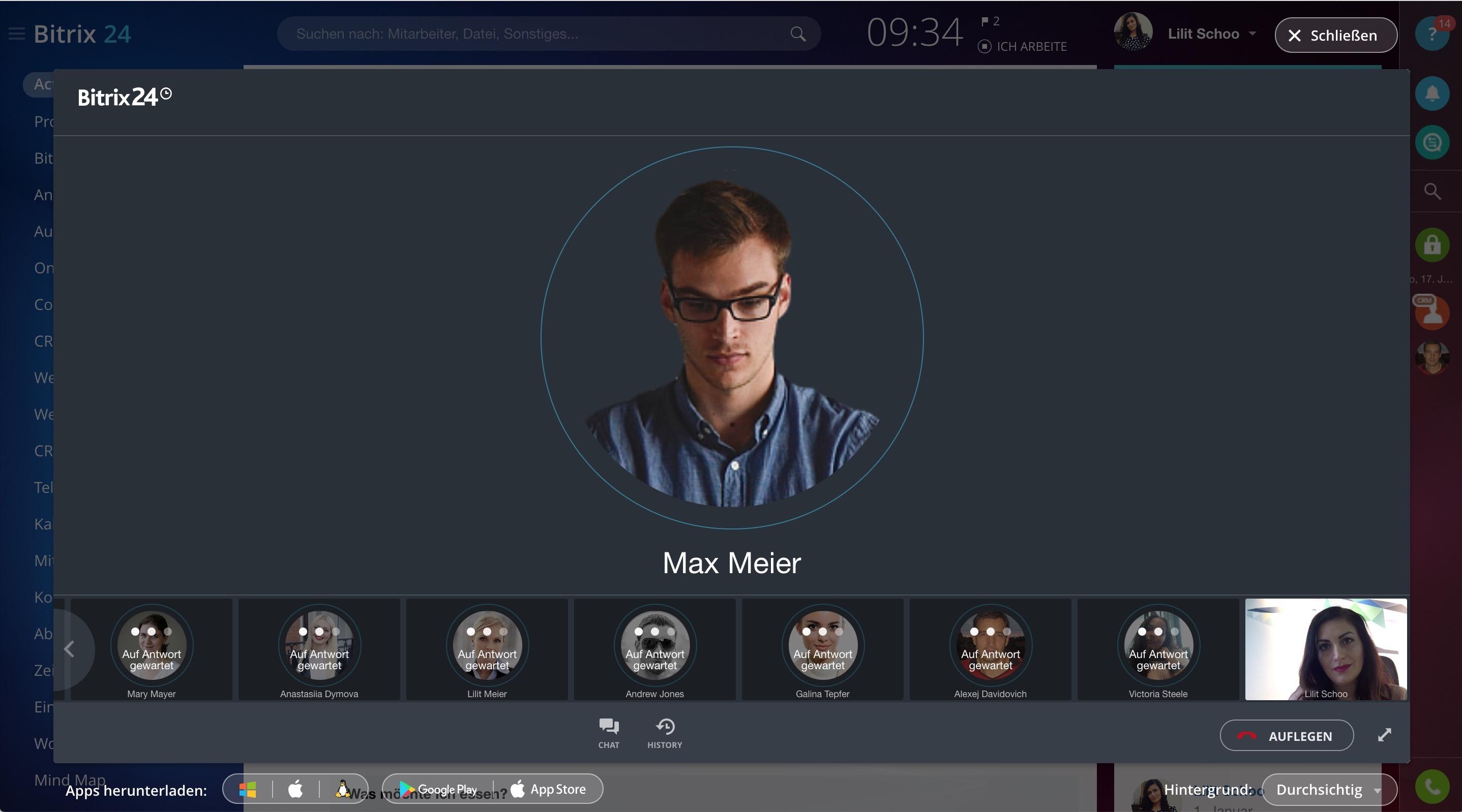 Video-Gruppenchat bis zu 10 Personen