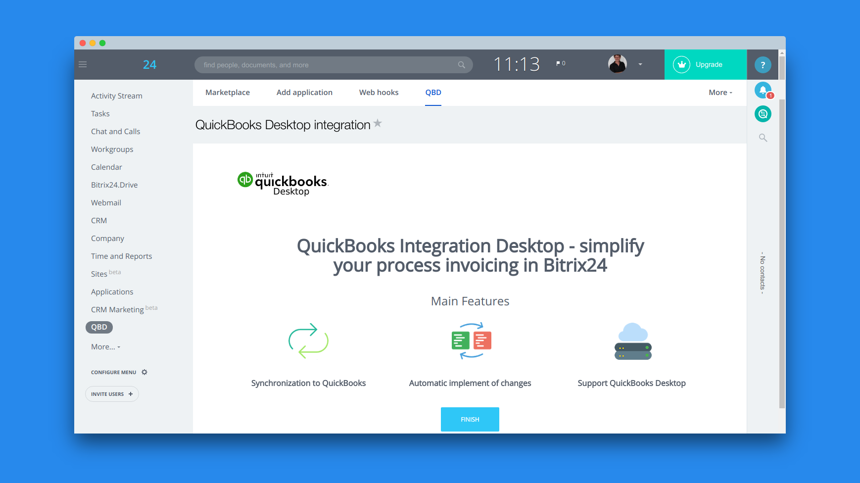 Bitrix24 now integrates with the desktop editions of QuickBooks