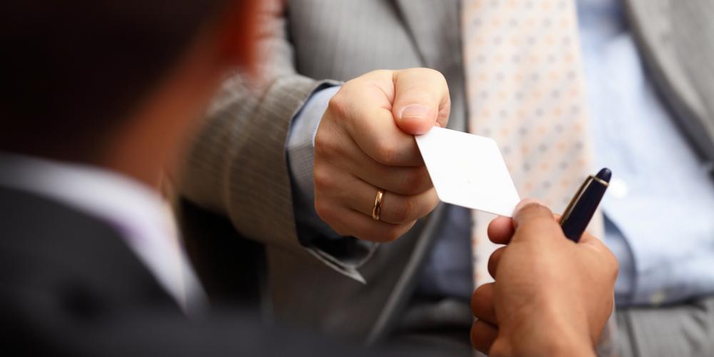 Escáner de tarjetas de presentación