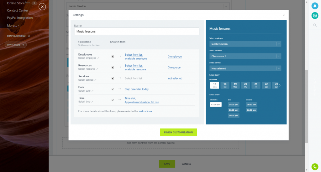 New in CRM: Webforms and Booking Resources