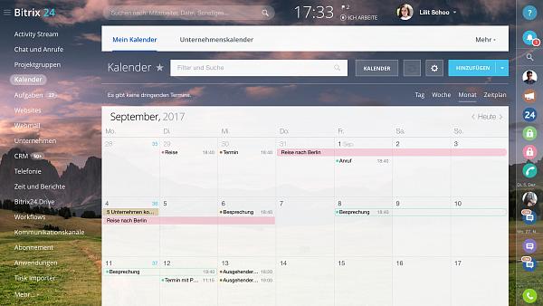 Neuer Kalender in Ihrem Bitrix24 Account