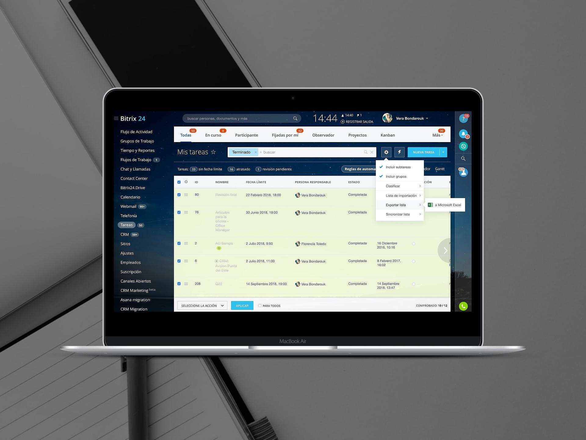 Cómo migrar o importar la lista de tareas en Bitrix24