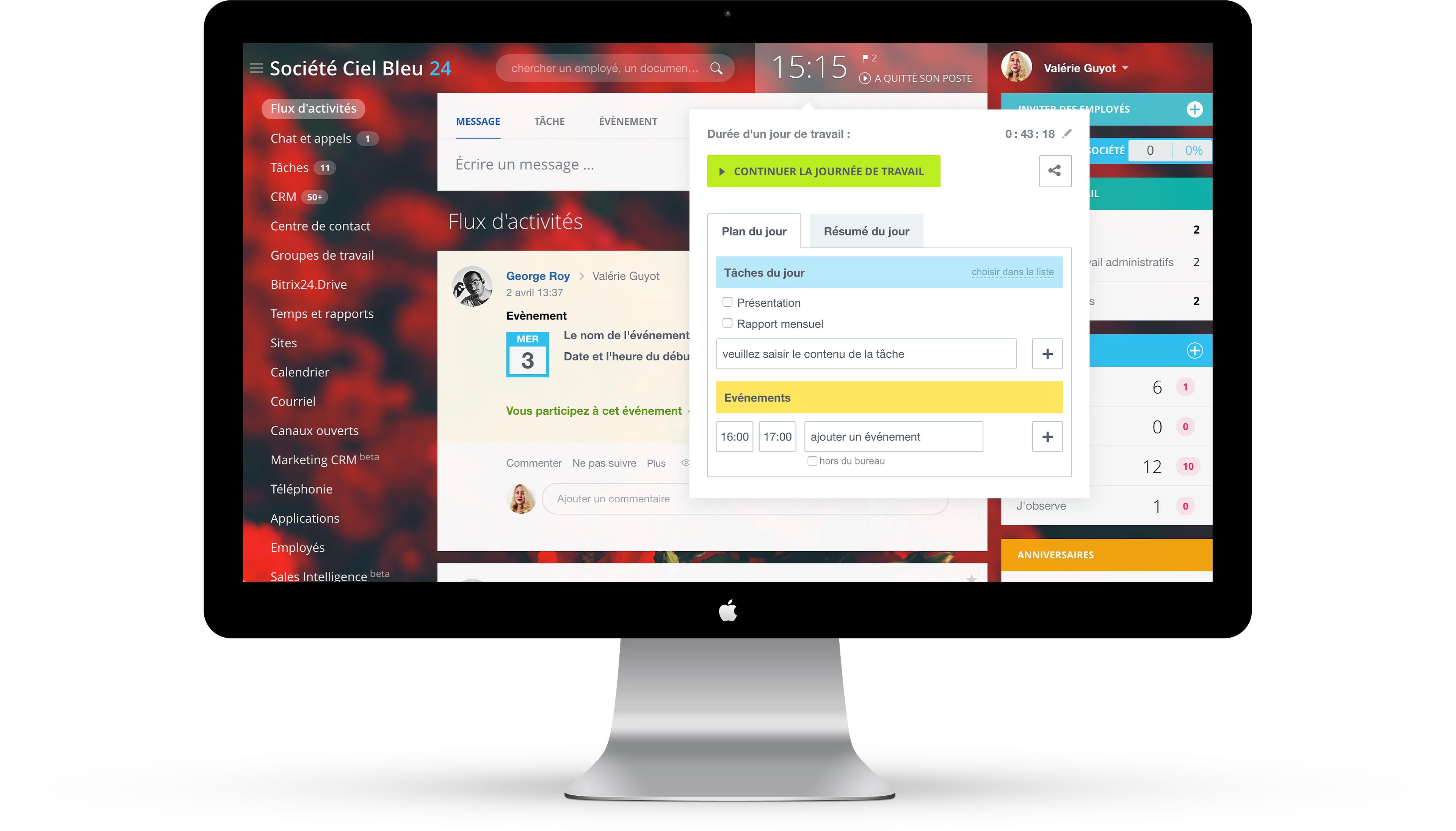 Gestion du temps de travail en ligne