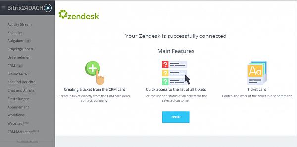 Bitrix24 Integration mit Zendesk ist jetzt verfügbar