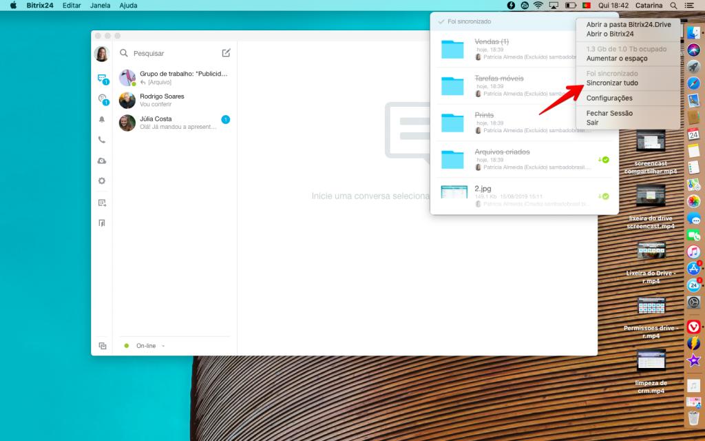 Atualização do aplicativo desktop