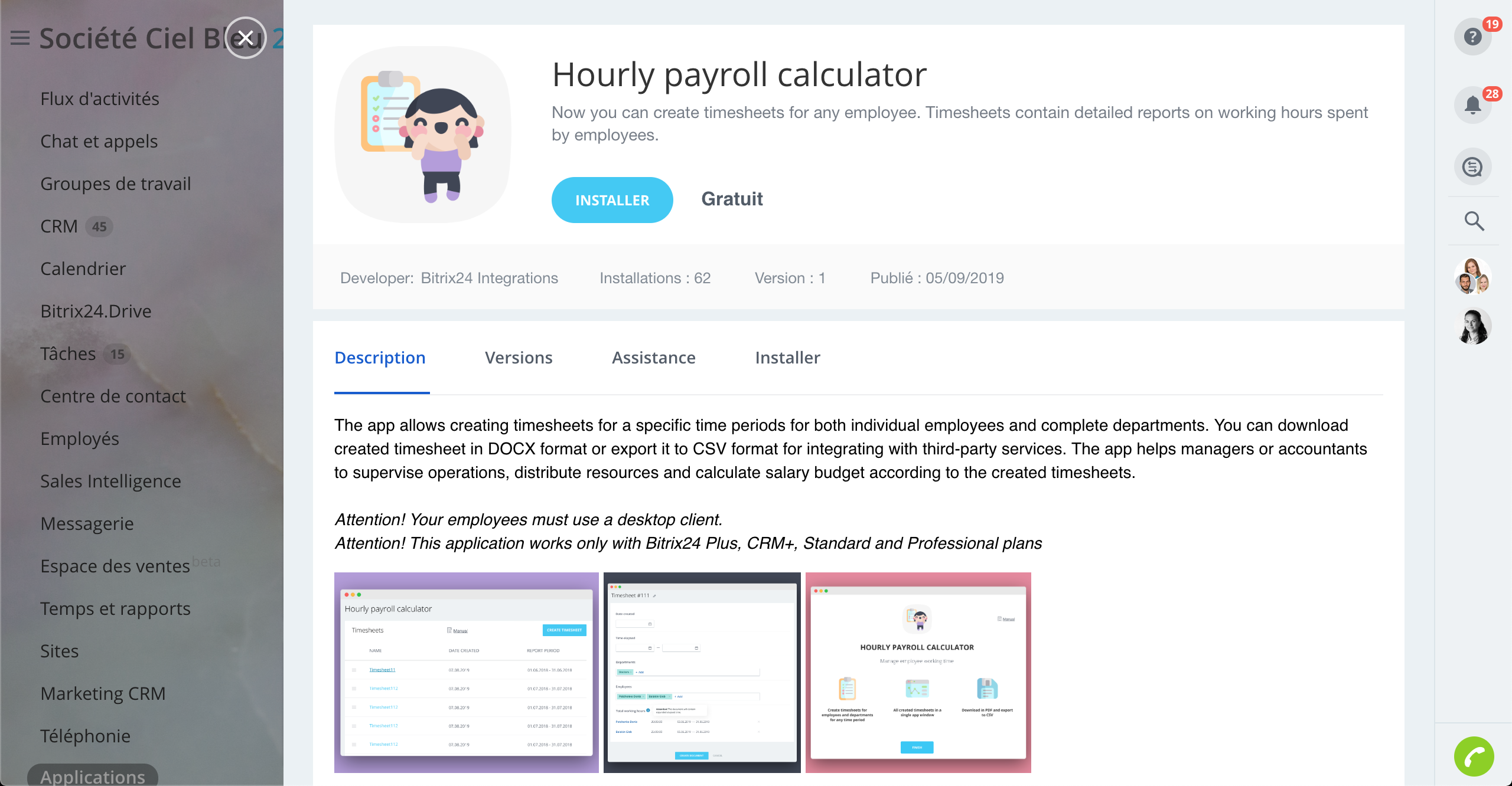 Hourly Payroll Calculator est désormais disponible dans Bitrix24