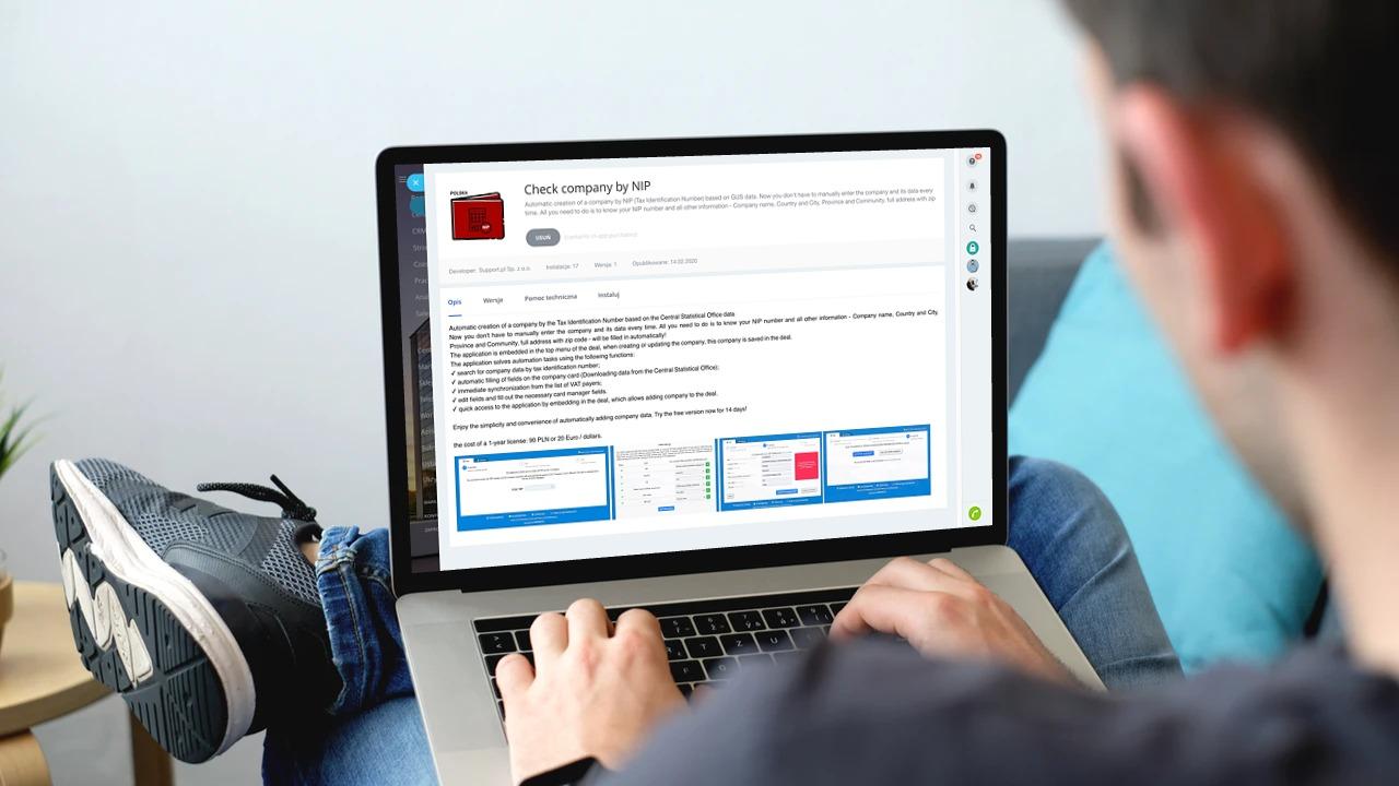 Tworzenie karty firmy na podstawie NIP