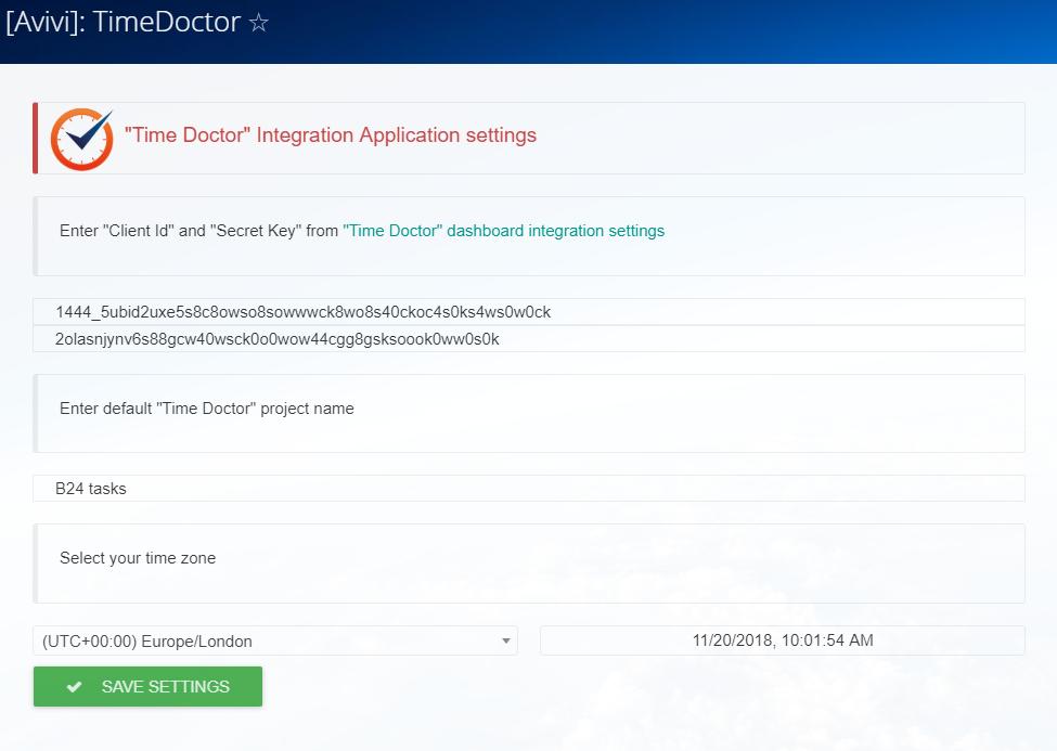 Integração do Bitrix24 com Timedoctor está disponível