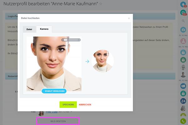 Profilbild mit der Webcam direkt in Bitrix24 ändern bzw. machen!