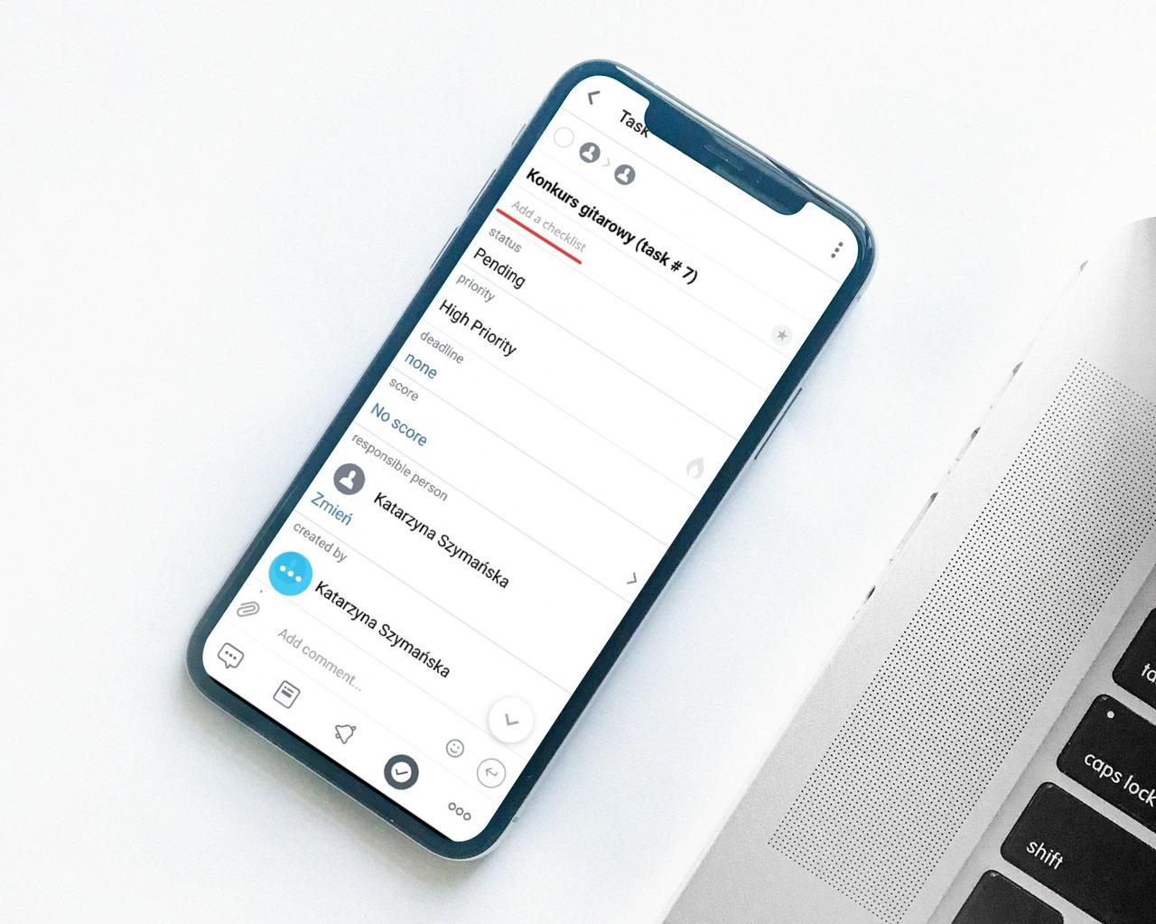 Listy kontrolne w aplikacji mobilnej Bitrix24