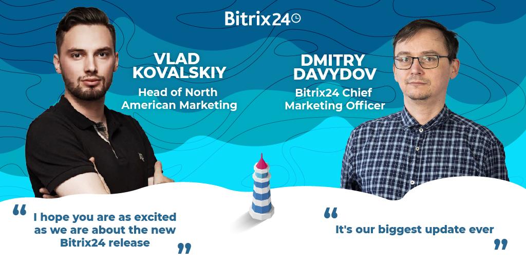 今度のBitrix24リリースプレゼンテーションのホストをご紹介いたします。