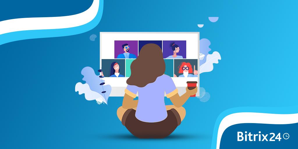 Grupowe połączenia wideo dla 12 pracowników w Bitrix24 On-Premise