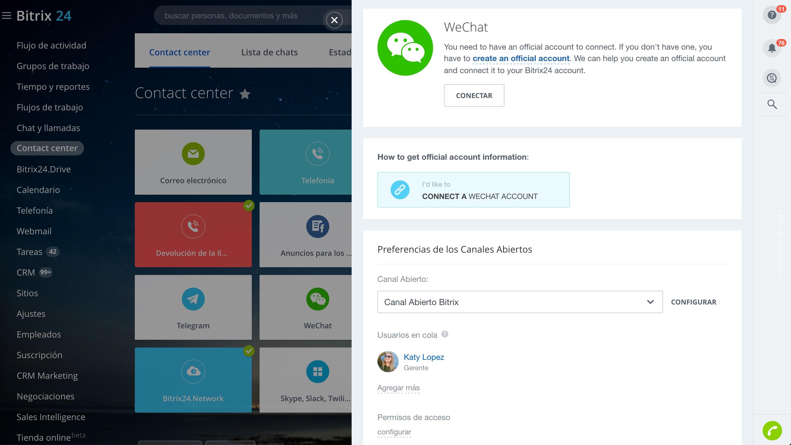 Integración con WeChat