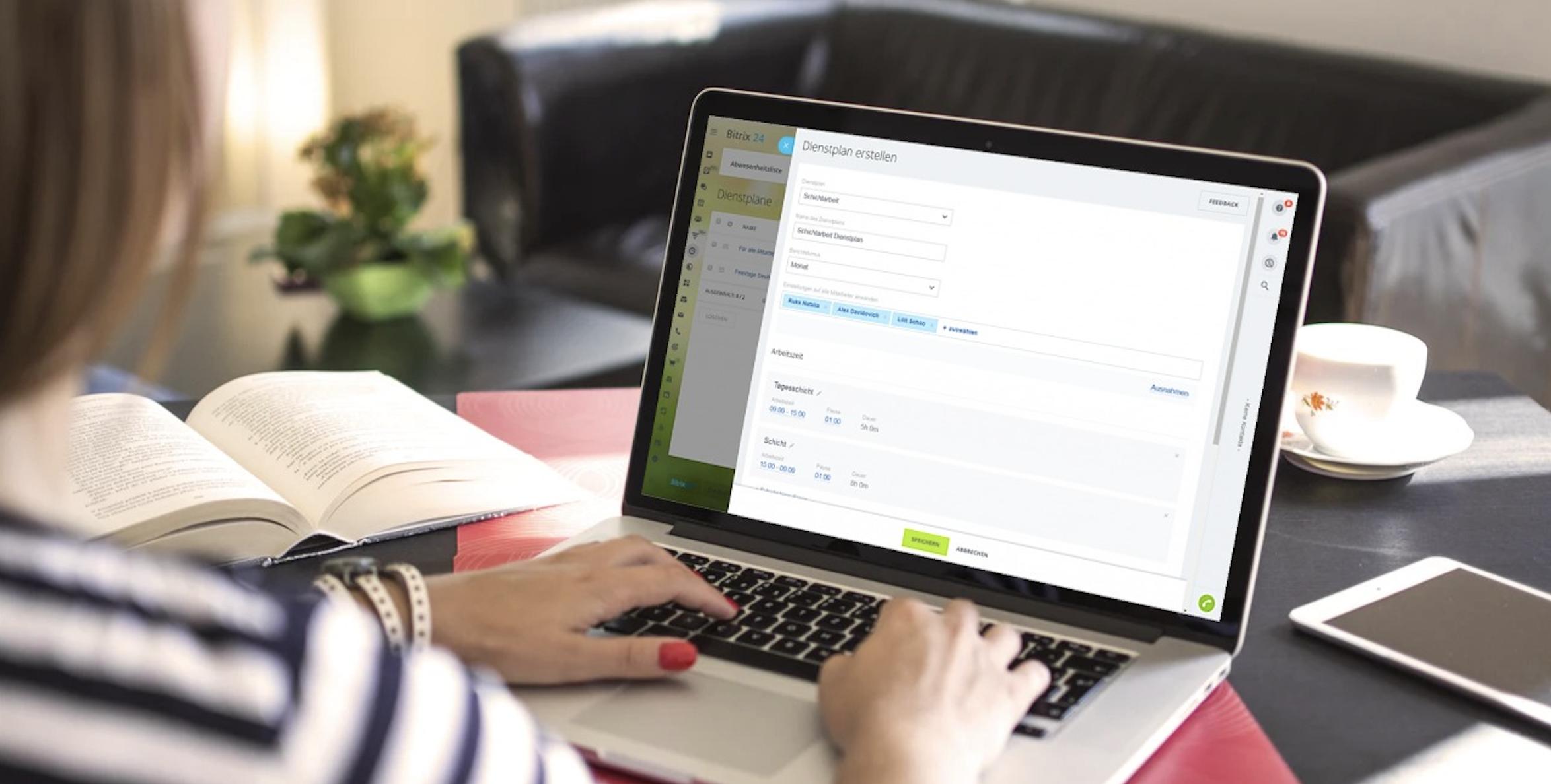 Bitrix24 ermöglicht perfekte Erstellung und Konfiguration der Dienstpläne