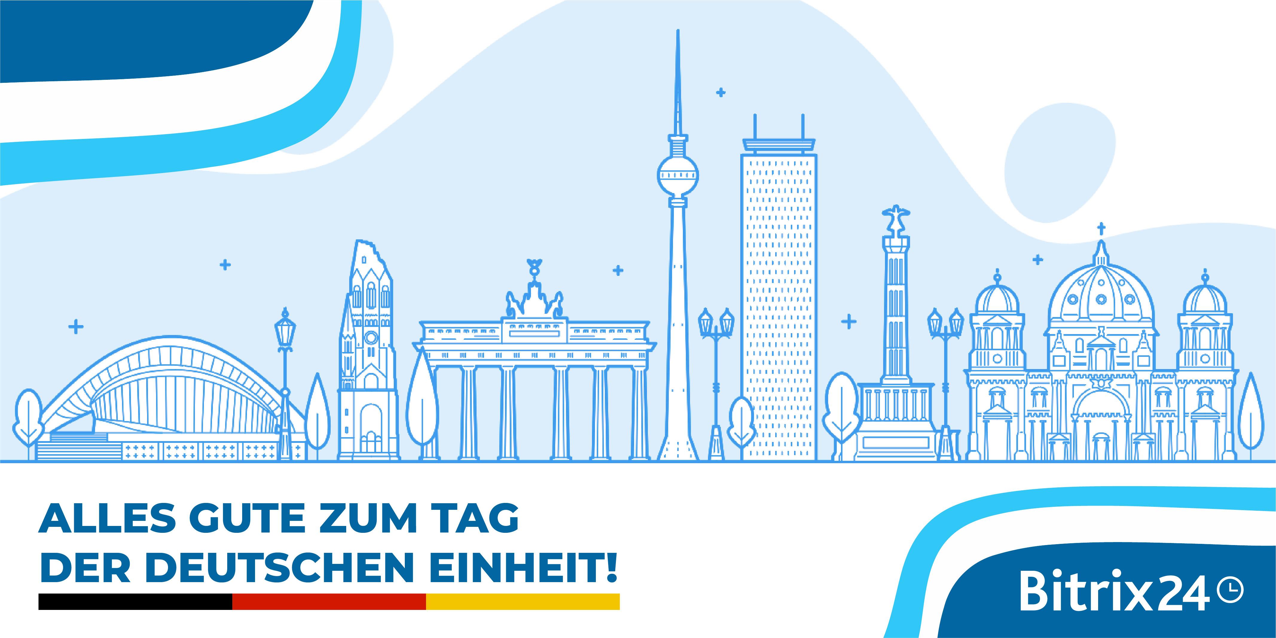 Alles Gute zum Tag der Deutschen Einheit!