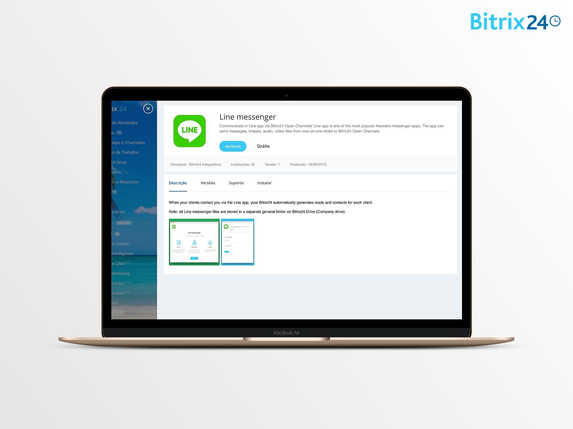 Integração do Bitrix24 CRM com Line!