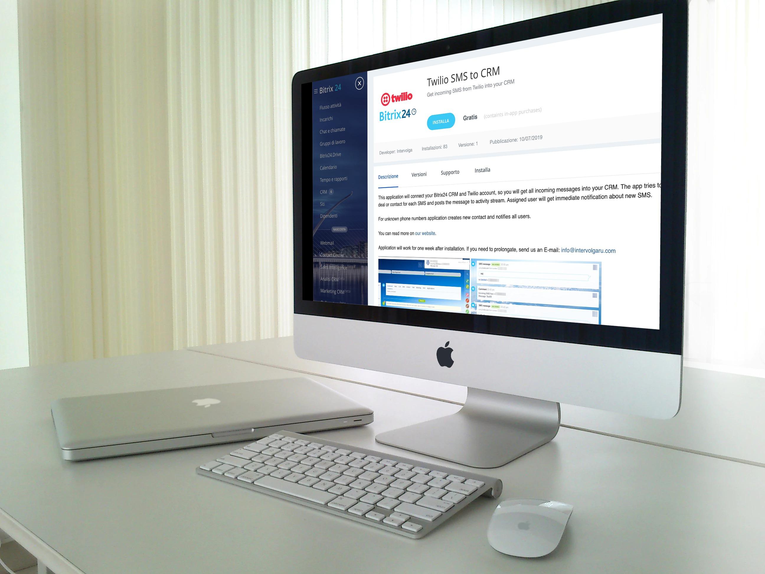 Gli SMS in entrata su Bitrix24 sono ora supportati da Twilio SMS