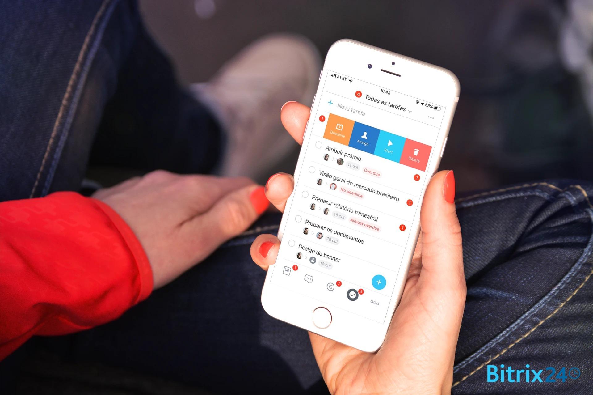 Atualização de tarefas no aplicativo móvel