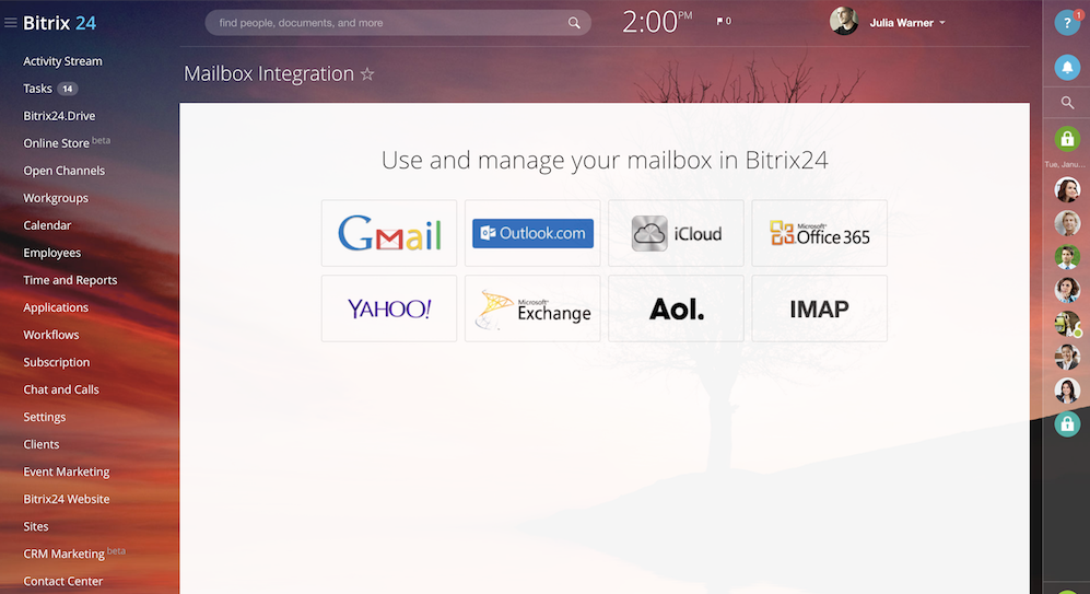 Webmail in Bitrix24: Mailbox Integration