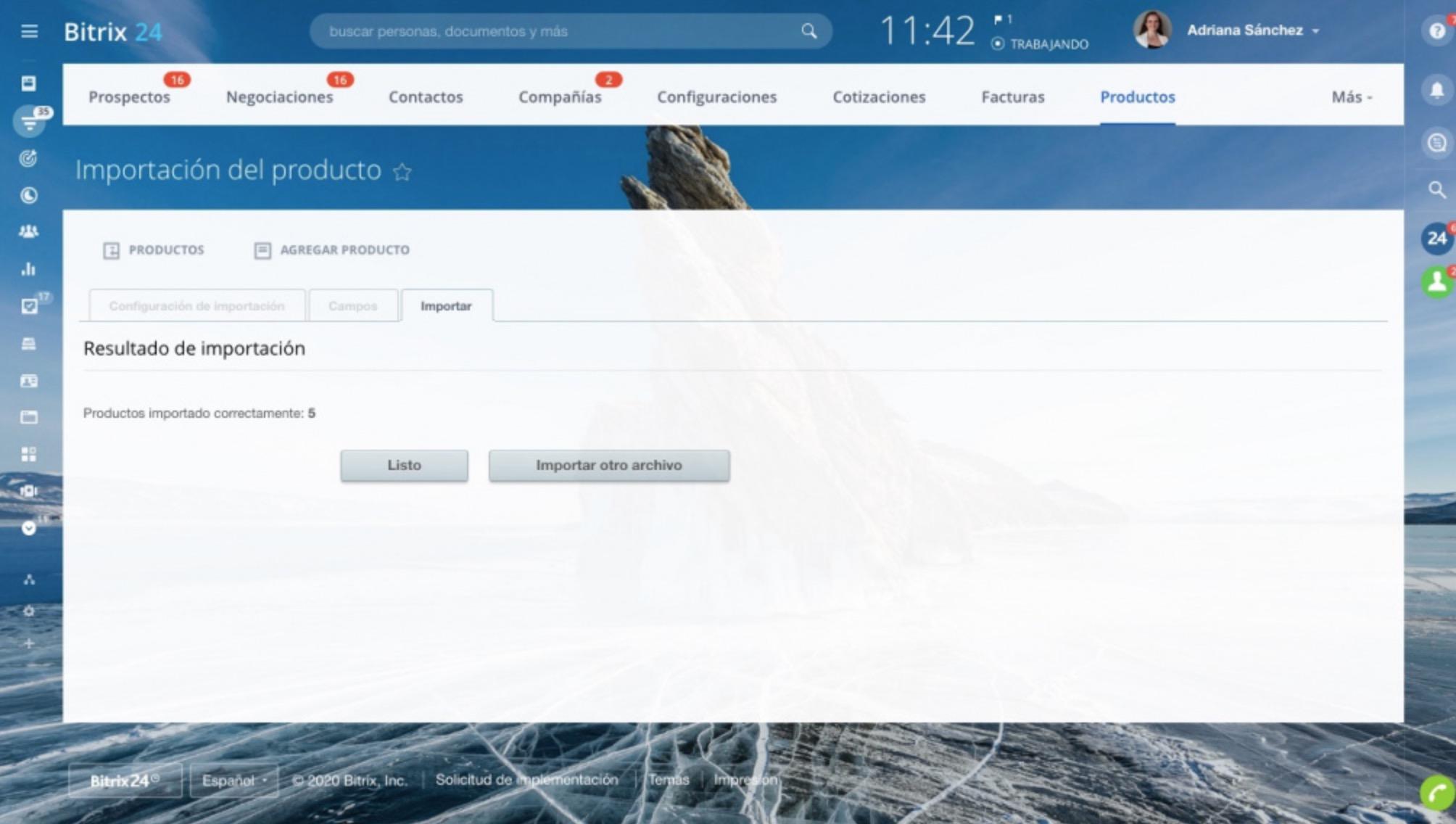 Actualizar productos importando archivo CSV
