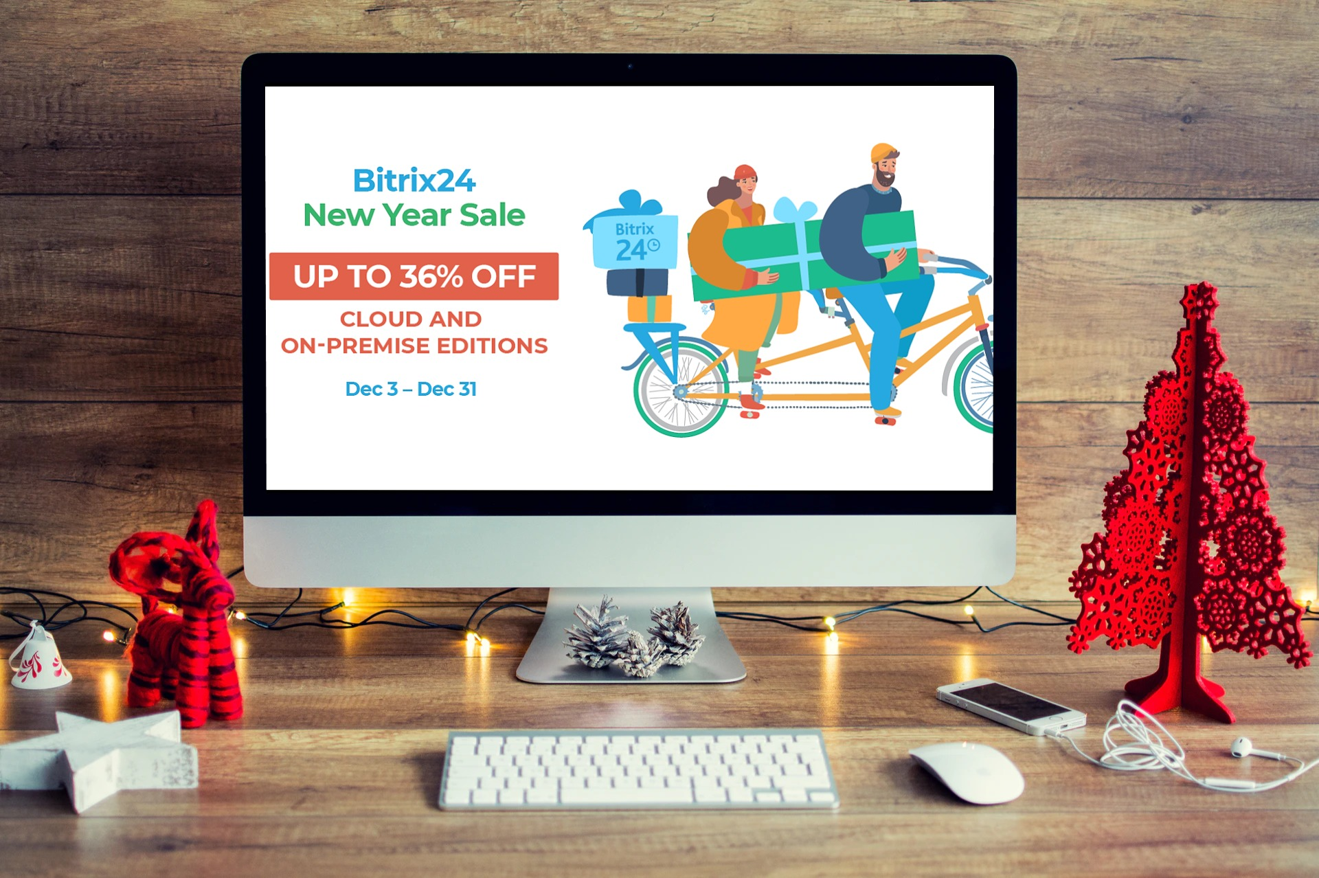 Bitrix24 New Year Sale – 36% Off All Accounts