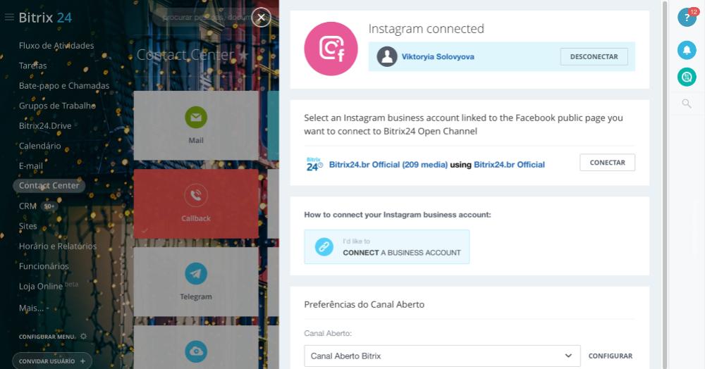 Novidade: Instagram para negócios no seu Bitrix24