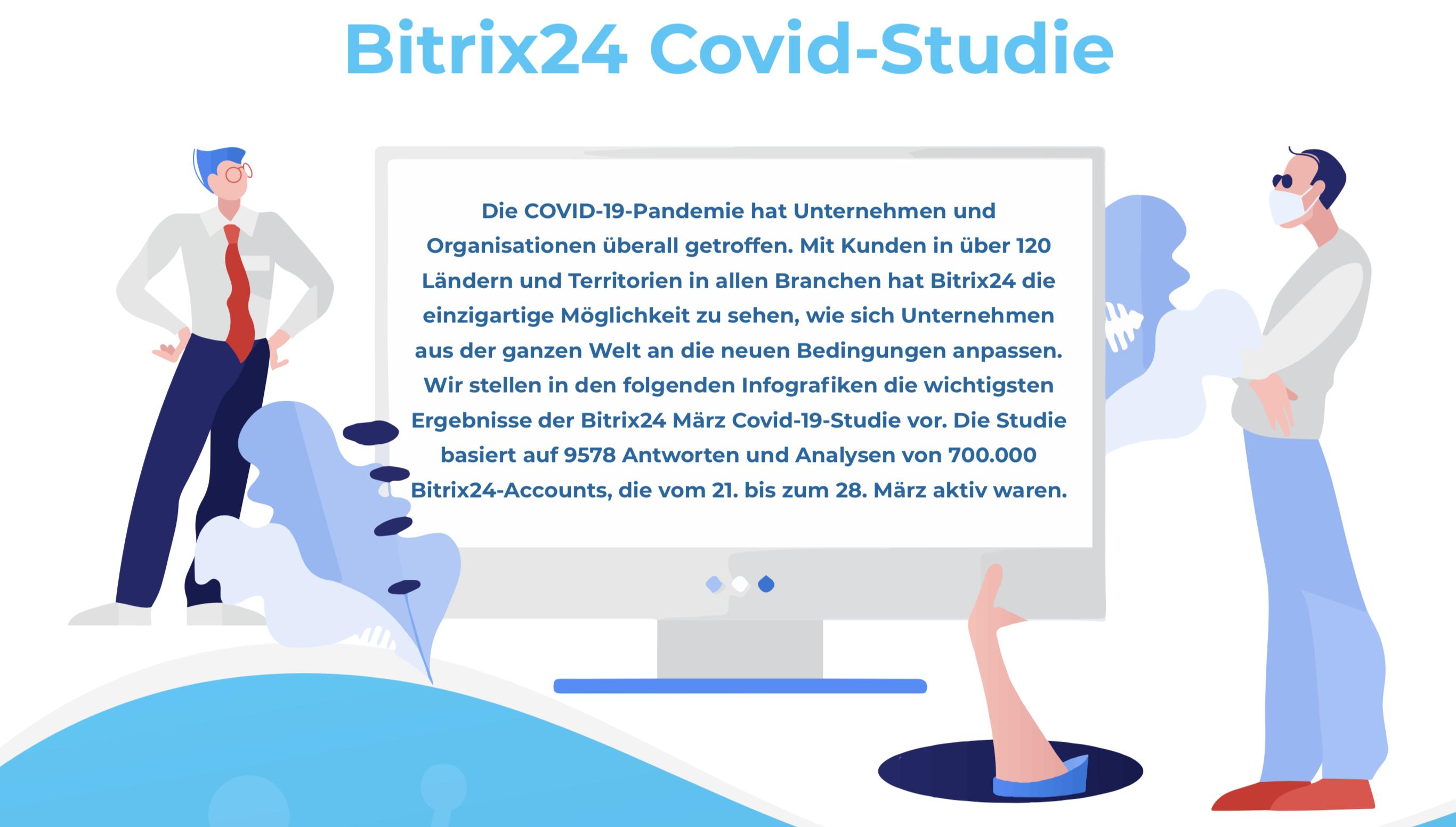 Bitrix24 Studie: Der Einfluß der Pandemie auf Business