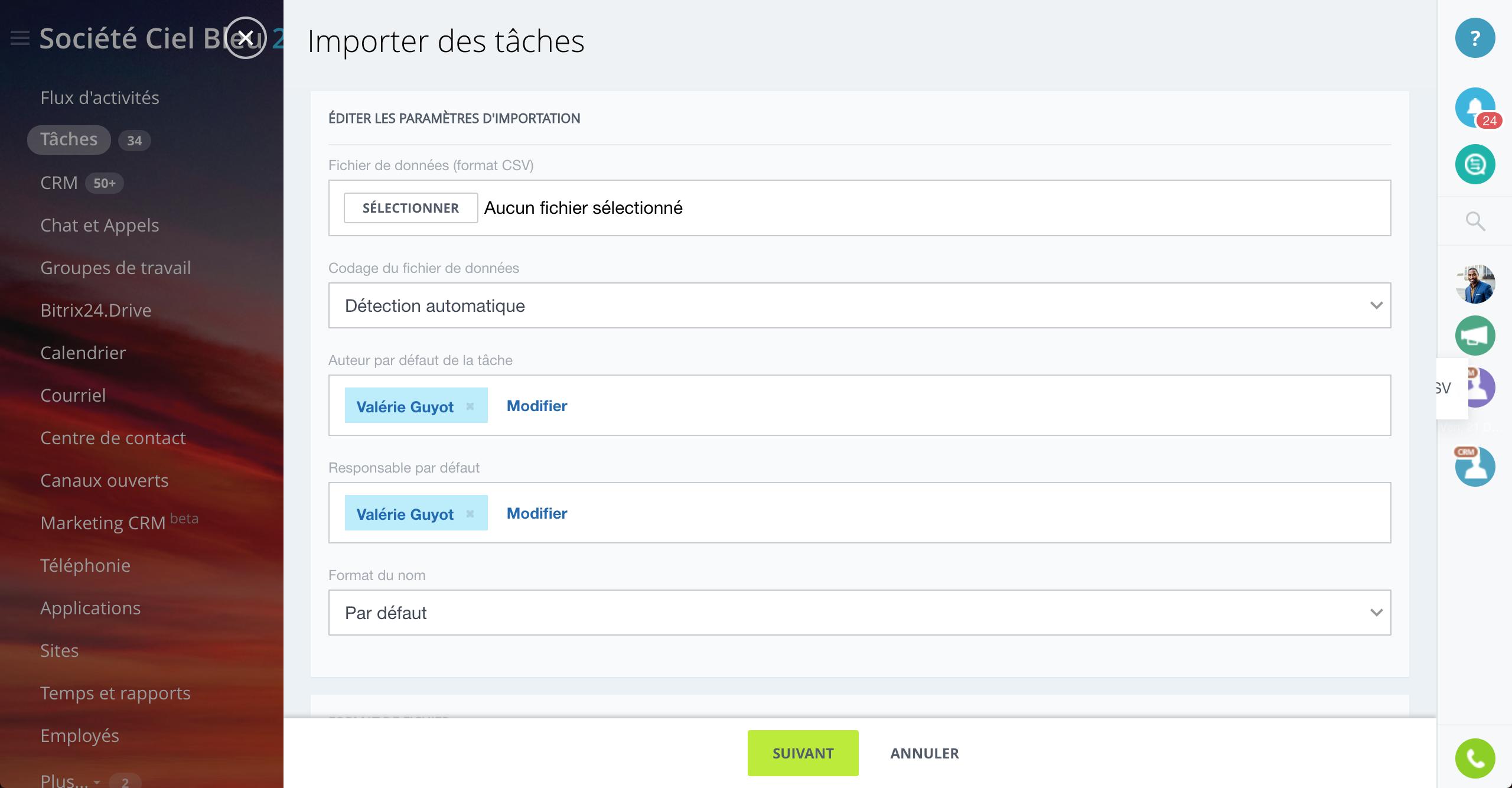 Migrer des tâches vers Bitrix24 à l'aide d'un fichier CSV