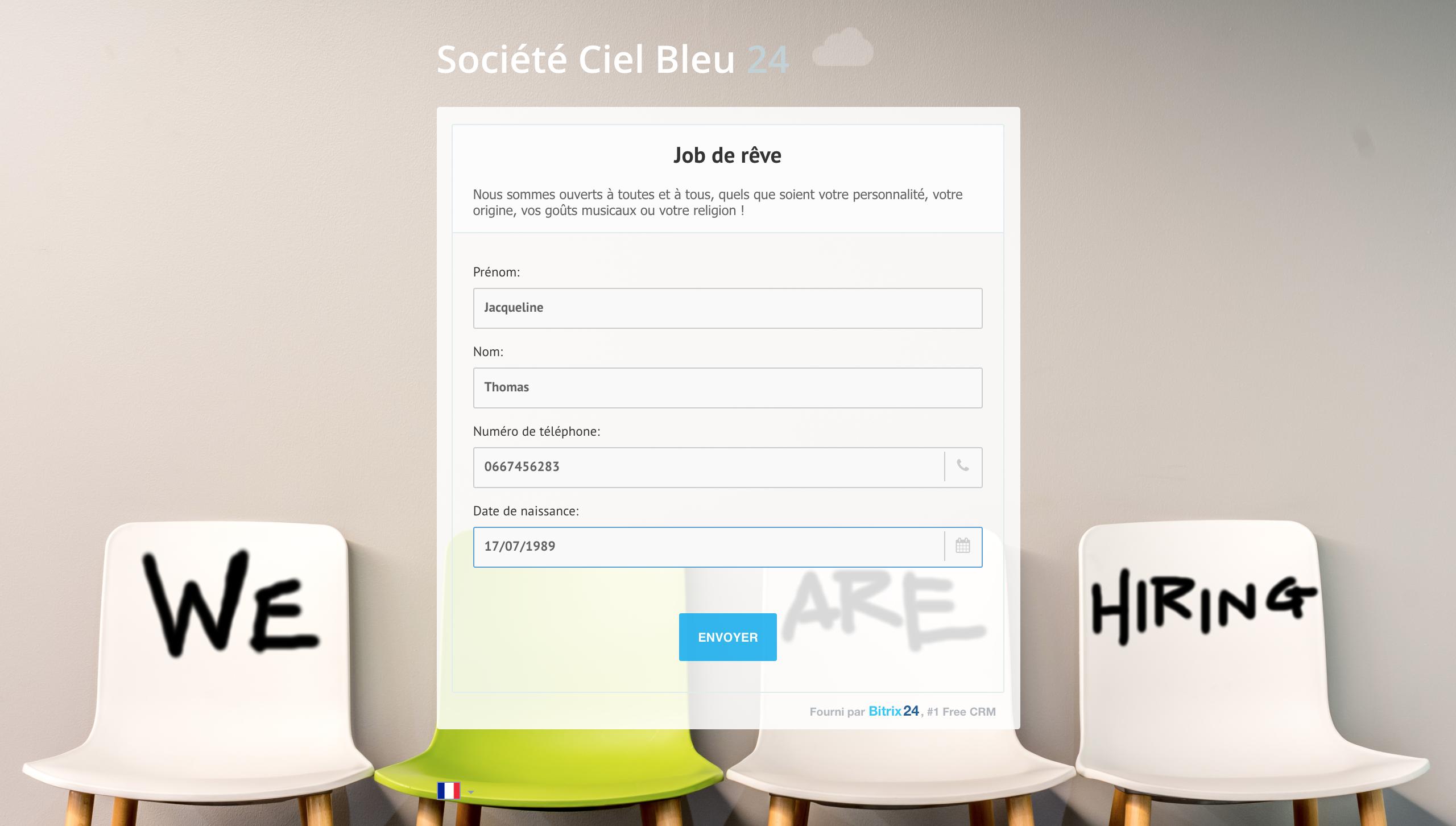 Créez de beaux formulaires en ligne avec Bitrix24 !