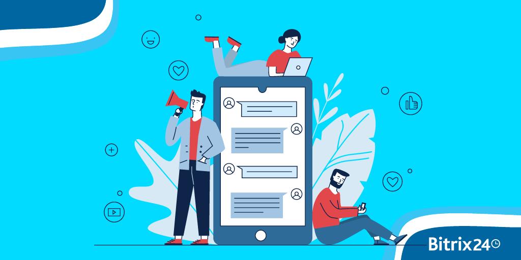 Tâches dans les projets sur l'application mobile Bitrix24