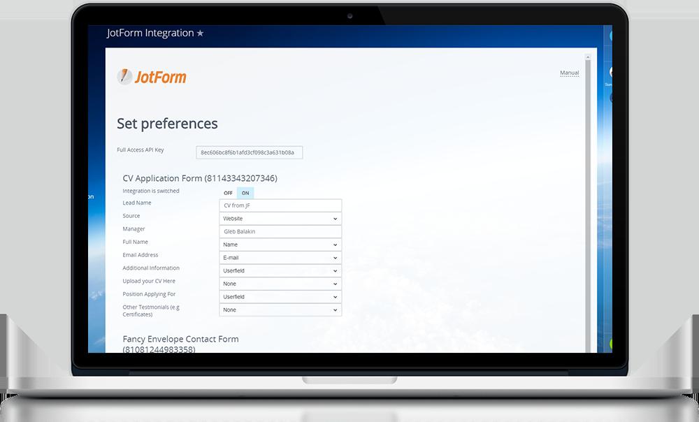 A integração do Bitrix24 com o JotForm (Bônus: integração com o Slack)