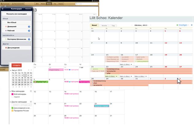 Synchronisieren von Kalender und Kontakte