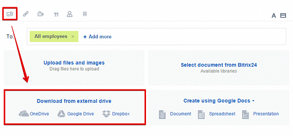 Bitrix24 Now Works With OneDrive, Dropbox And Google Drive