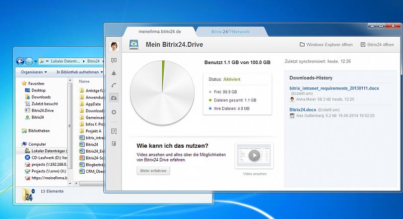 BITRIX Drive – gemeinsame Arbeit an Dokumenten